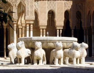Image: Spain's Alhambra lion statues