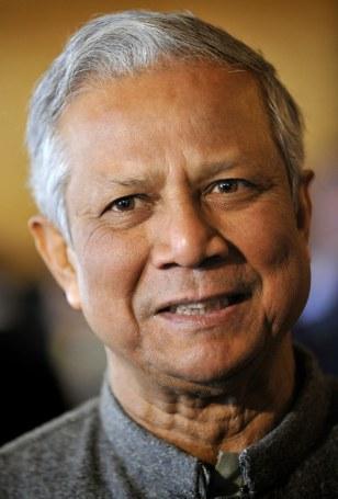 Image: Bangladeshi banker and 2006 Nobel peace prize laureate Muhammad Yunus