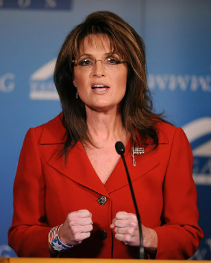 Image: Former Alaska governor Sarah Palin speak