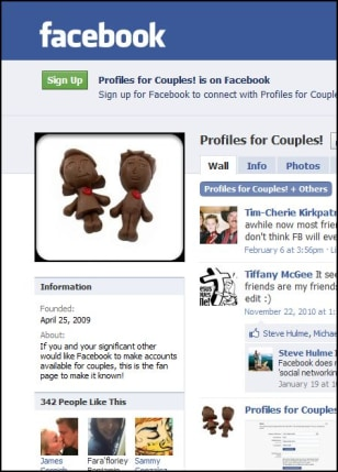 Image: Facebook couples page