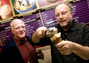 Image: Ben Cohen, left and Jerry Greenfield.