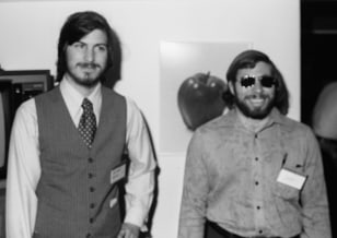 Image: Steve Jobs, left, and Steve Wozniak.