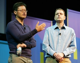Image: Jerry Yang, left, and David Filo.