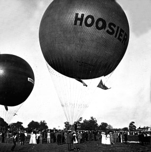 Image: Hoosier balloon at Indy Motor Speedway