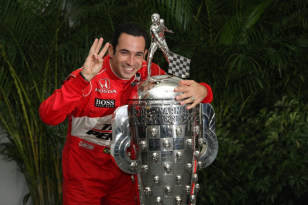 Image: Indy 500 three-time winner Helio Castroneves in 2009