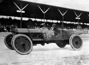 Image: Ray Harroun won the first Indianapolis 500 race in 1911.