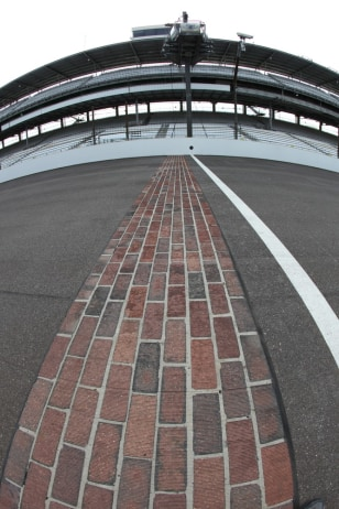 Image: IMS track with one yard of brick visible