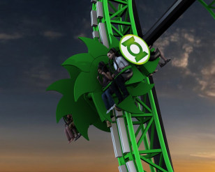 Image: Green Lantern: First Flight, Six Flags Magic Mountain