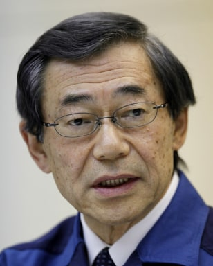 Image: Tokyo Electric Power Co. President Masataka Shimizu