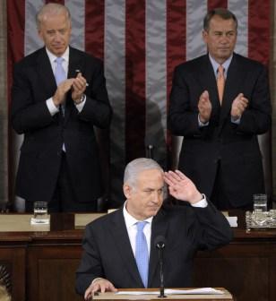 Image: Benjamin Netanyahu, Joe Biden, John Boehner