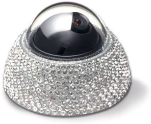 Image: What better way to deter thieves than to encase your surveillance camera in 600 Swarovski crystals,like this one from Dalleier Electronics?