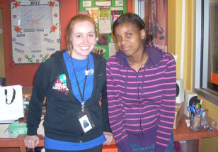 Image: Healthworks at St. Mary's site director Monica Frender and intern Angel Omoregie