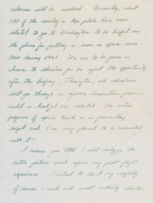 Image: Alan Shepard letter