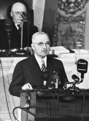Image: Harry Truman addressing a joint session of Congress