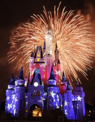 Image: Fireworks at Cinderella Castle