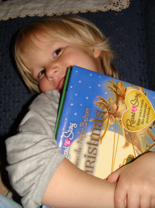 Image: Brooklynn Kisby with book