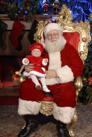 Image: Santa Phil with baby girl