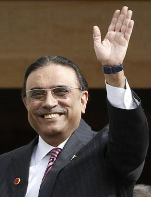 Image: Pakistani President Asif Ali Zardari