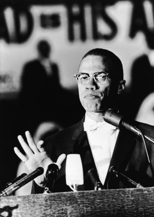 Image: Malcolm X at a rally in Washington, DC, in 1963