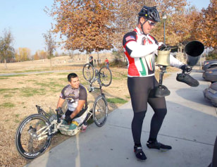 Image: Wesley Barrientos and Jeremy Staat getting ready to ride