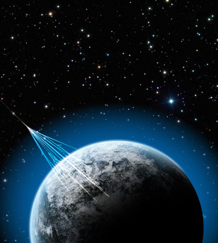 Image: Ultra-high energy cosmic ray illustration