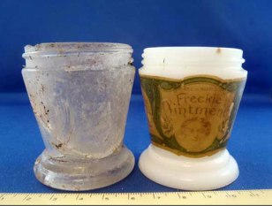 Image: Freckle ointment jars