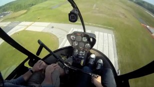 Image: Robert Wilson Pinksten's point of view while flying a helicopter