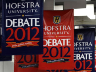 Image: Debate signs