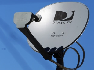 Image: DirecTV satellite receiver dish