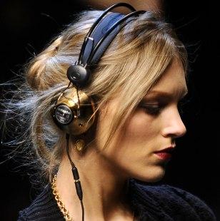 Image: A model wearing headphones