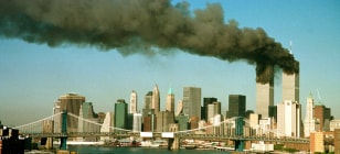 Image: Smoke rises from the World Trade Center