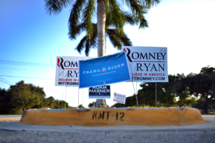 Image: campaign signs