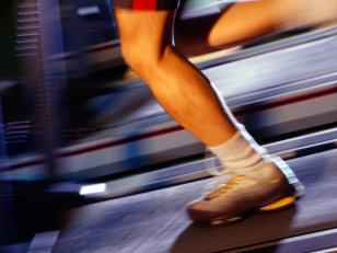 Image: running on a treadmill