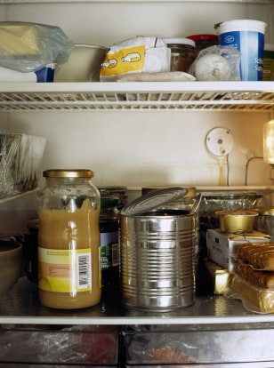 Image: refrigerator full of leftover food