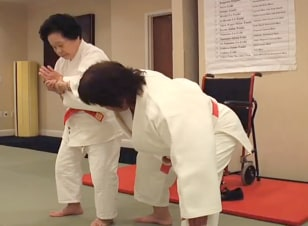 Image: Keiko Fukuda teaching judo and self-defense techniques at her dojo in San Francisco