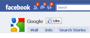 Image: Screenshot of Google account on Facebook