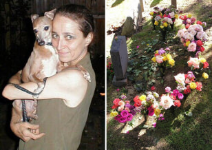 Image: Jessie Adair buried Beamer, her Italian Greyhound, at Hartsdale Pet Cemetery