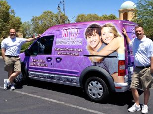Image: Las Vegas Wedding Wagon co-founders Andy Gonzalez and James Cass