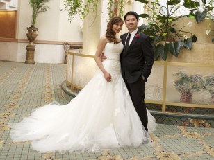 Image: Kimberly Trinh on her wedding day
