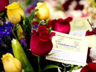 Image: Flowers in a bouquet assembled by the charity Random Acts of Flowers