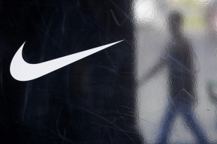 Image: Nike logo on factory store door