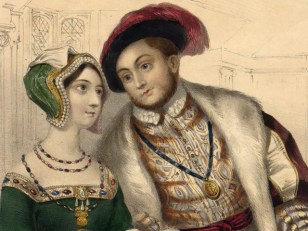 Image: King Henry VIII and his second wife, Anne Boleyn