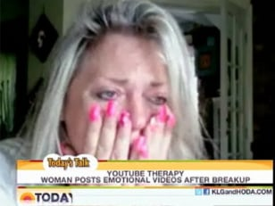 Image: Kelly Summers crying on YouTube