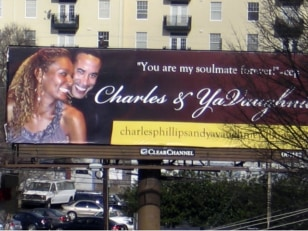 Image: YaVaughnie Wilkins and Charles E. Phillips on billboard
