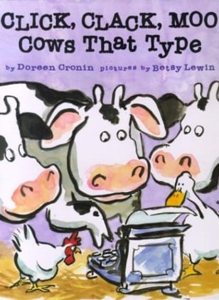 "Image: Cover of ""Click, Clack, Moo: Cows That Type"""