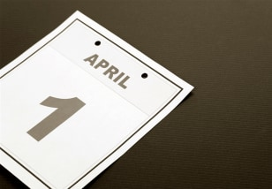 Image: April 1 on calendar