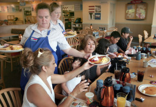 Image: Free pancakes from IHOP