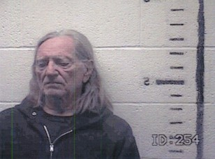 Image: Willie Nelson booking photo