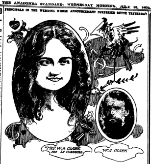 Newspaper drawing of Anna Clark