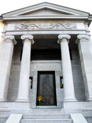 Clark mausoleum with columns